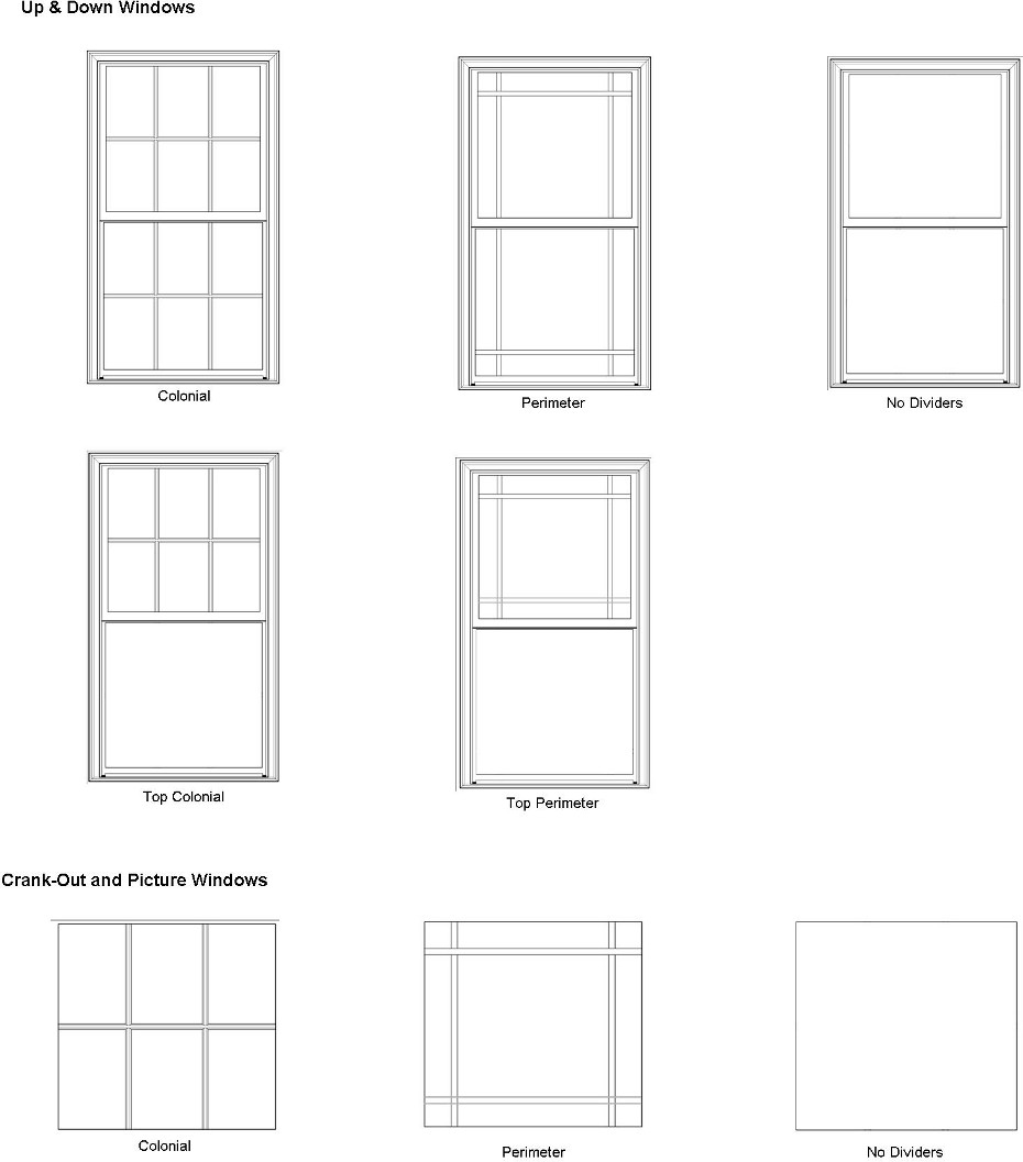 Bay or bow replacement windows for Window styles