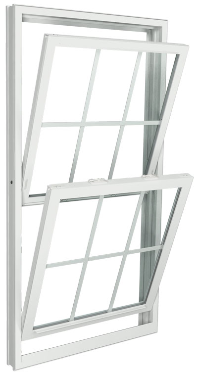 Interior View (tilting in for easy cleaning)   White   Colonial Glass Dividers