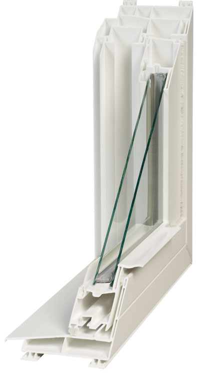 Cut-A-Way View   Double Pane Insulated Glass