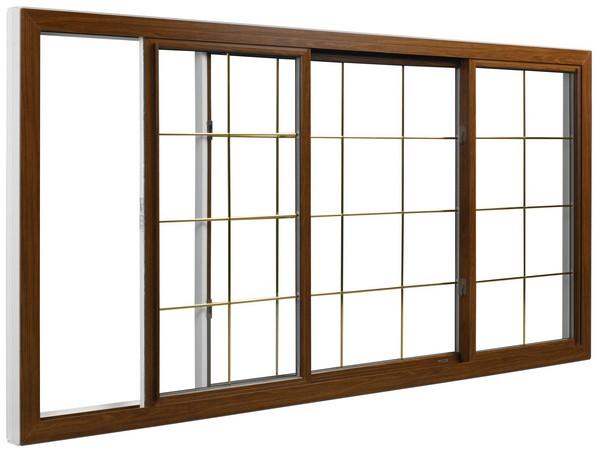 Interior View | Cherry Finish | Thin Brass Glass Dividers | Quarter Half Quarter Slider (end pieces of glass slide toward center)
