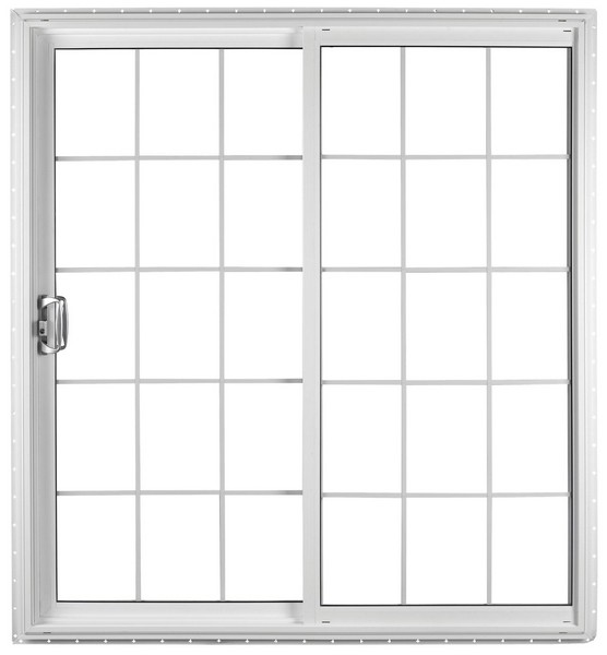 Exterior View | White | Colonial Glass Dividers | Brushed Chrome Handle